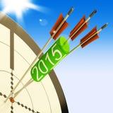 Projeção de planeamento futuro de 2015 mostras do alvo ilustração do vetor