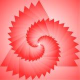 A projeção vermelha do triângulo Foto de Stock