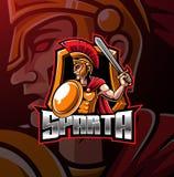 Spartan sport mascot logo design royalty free illustration