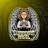 Guardian Angel mascot Logo design royalty free illustration