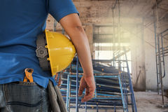 Project architects and engineers at a construction Royalty Free Stock Photo