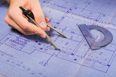 Project Architecture blueprint Royalty Free Stock Image