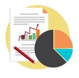 Project Bedrijfsconcepten vectorontwerp Stock Afbeeldingen