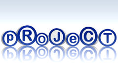 Project in blue circles Stock Image