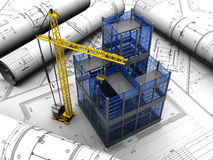 Project of building Royalty Free Stock Image