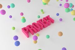 Project, business conceptual colorful 3D rendered words. Style, digital, alphabet & rendering. Project, business conceptual colorful 3D rendered words stock illustration