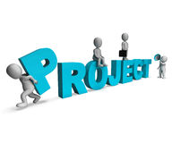 Project Characters Show Venture Projects And Tasks. Project Characters Showing Venture Projects And Tasks Stock Photo