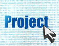 Project and cursor over a binary Stock Image