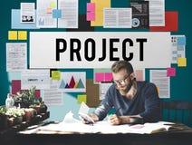 Project de Voorspelling van de Planningsraming voorspelt Taakconcept royalty-vrije stock foto