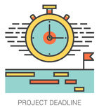 Project deadline line icons. Stock Images