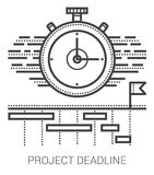 Project deadline line icons. Stock Photo