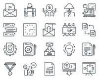 Project development icon set Royalty Free Stock Photos