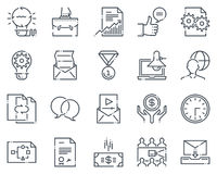 Project development icon set. Suitable for info graphics, websites and print media.  Hand drawn style, pixel perfect line  icons Royalty Free Stock Images