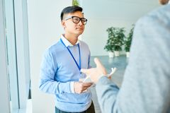 Project Discussion in Modern Office stock photography