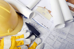 Project drawings Royalty Free Stock Photos