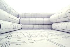 Project drawings Stock Photography