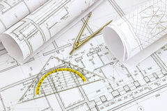 Project drawings Stock Image