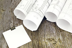 Project drawings Royalty Free Stock Images