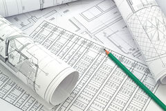 Project drawings Stock Photo