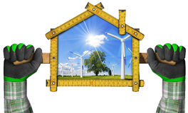 Project of an Ecological House Royalty Free Stock Image