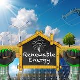Project of Ecological House - Renewable Energy Stock Photo