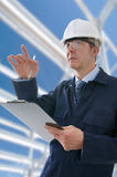 Project Engineer. Project/Construction Enginner on site Royalty Free Stock Photo