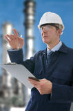 Project Engineer. Project/Construction Enginner on site Stock Photography