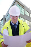 Project Engineer. Project/Construction Enginner on site Stock Image