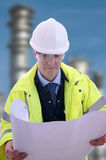 Project Engineer. Project/Construction Enginner on site Royalty Free Stock Image