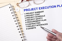 Project execution plan Royalty Free Stock Image