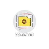 Project File Design Develepment Icon. Vector Illustration Royalty Free Stock Image