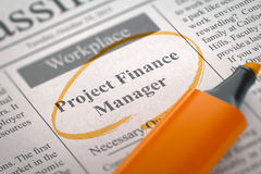 Project Finance Manager Join Our Team. 3D Royalty Free Stock Images