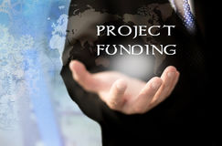 Project funding concept. Project funding. Business, technology, internet and networking concept Stock Photography