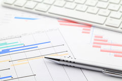 Project gantt chart. Close up Stock Images