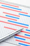 Project gantt chart Stock Photography