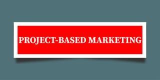 Project Gebaseerd Marketing Teken vector illustratie