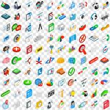 100 project icons set, isometric 3d style Stock Image