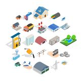 Project icons set, isometric style. Project icons set. Isometric set of 25 project vector icons for web isolated on white background Stock Images