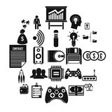IT project icons set, simple style. IT project icons set. Simple set of 25 it project vector icons for web isolated on white background Royalty Free Stock Images