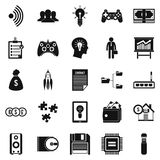 IT project icons set, simple style Stock Image