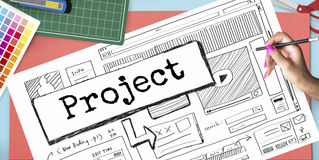 Project Idea Website Scheme Plan Concept Stock Images