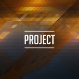 Project Inscription on Triangle Background. Royalty Free Stock Photo