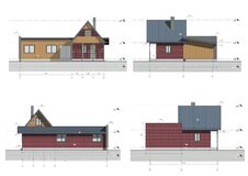 Project of the living house. Drawing: facade of the living house, bungalow Royalty Free Stock Images