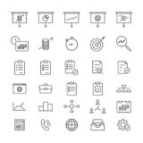 Project Manadgement Line Icons royalty free illustration