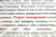 Project Management. Tools, resources, goals Stock Image