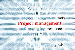 Project Management. Tools, resources, goals Royalty Free Stock Photo