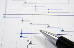 Project management. Construction project planning Stock Photography