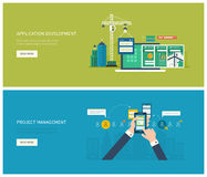 Project management and application development Stock Photo