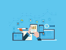 Project management and application development Royalty Free Stock Image