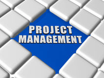 Project management in boxes Stock Image